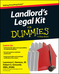 Landlord's Legal Kit For Dummies - Robert S. Griswold,Laurence Harmon - cover