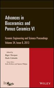 Advances in Bioceramics and Porous Ceramics VI - Sujanto Widjaja,Soshu Kirihara - cover