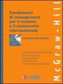 Fondamenti di management per il turismo e il commercio - copertina
