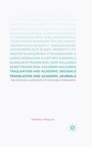 Translation and Academic Journals: The Evolving Landscape of Scholarly Publishing - cover