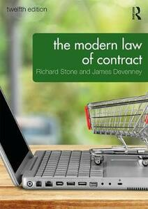 The Modern Law of Contract - James Devenney - cover