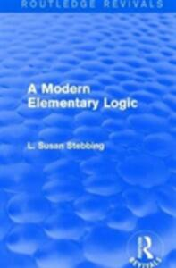 : A Modern Elementary Logic (1952) - L. Susan Stebbing - cover