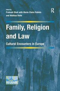 Family, Religion and Law: Cultural Encounters in Europe - cover