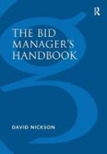 The Bid Manager's Handbook - David Nickson - cover