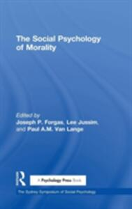 The Social Psychology of Morality - cover