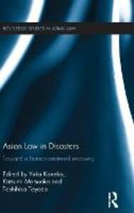 Asian Law in Disasters: Toward a Human-Centered Recovery - cover