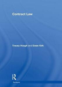Contract Law - Tracey Hough,Ewan Kirk - cover