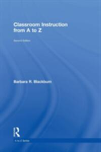 Classroom Instruction from A to Z - Barbara R. Blackburn - cover