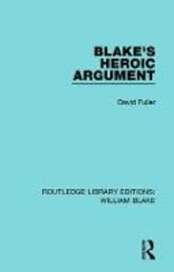 Blake's Heroic Argument - David Fuller - cover