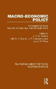 Macro-economic Policy: A Comparative Study, Australia, Canada, New Zealand and South Africa - cover