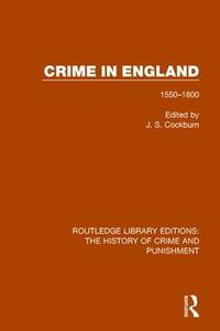 Crime in England: 1550-1800 - cover
