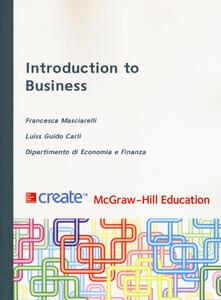 Introduction to business - Francesca Masciarelli,Luiss Guido Carli - copertina