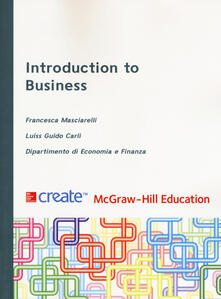 Introduction to business - Francesca Masciarelli - copertina