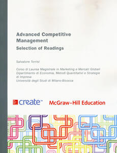 Advanced competitive management. Selection of readings - Salvatore Torrisi - copertina