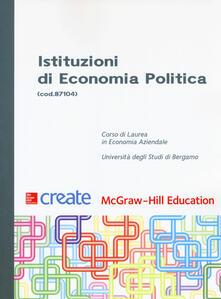 Istituzioni di economia politica - copertina