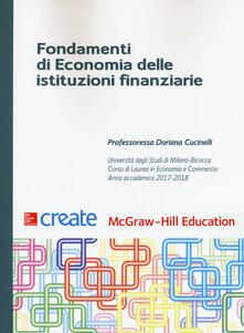 Fondamenti di economia delle istituzioni finanziarie. Con Connect - copertina