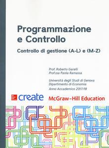 Programmazione e controllo. Controllo di gestione (A-L) e (M-Z) - copertina