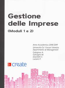 Gestione delle imprese (moduli 1 e 2) - Anna Cabigiosu,M. Calcagno,Cesare Giachetti - copertina