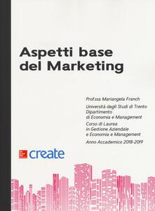 Aspetti base del marketing - copertina