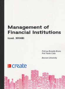 Management of financial institutions - copertina