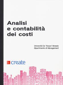 Analisi e contabilità dei costi - copertina