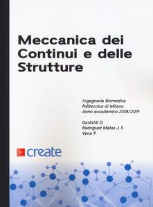 Meccanica dei continui e delle strutture - copertina