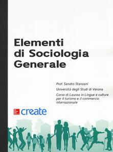 Elementi di sociologia generale - copertina