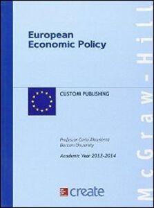 Foto Cover di European economy policy, Libro di  edito da McGraw-Hill Education