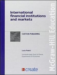 International financial institutions and markets - copertina