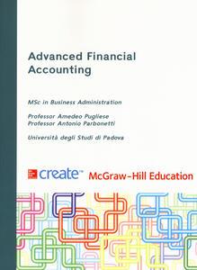 Advanced financial accounting - Antonio Parbonetti,Amedeo Pugliese - copertina