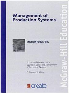 Foto Cover di Management of production systems, Libro di  edito da McGraw-Hill Education
