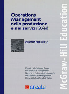 Foto Cover di Operations management nella produzione e nei servizi, Libro di  edito da McGraw-Hill Education