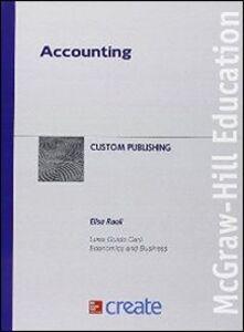 Foto Cover di Accounting, Libro di  edito da McGraw-Hill Education