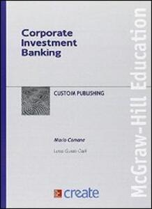 Corporate investment banking - copertina