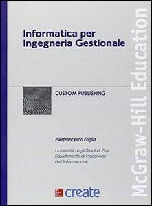 Informatica per ingegneria gestionale - copertina