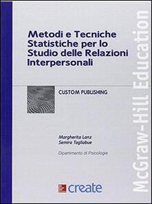 Metodi e tecniche statistiche per lo studio delle relazioni - copertina