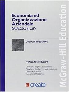 Economia ed organizzazione aziendale - copertina