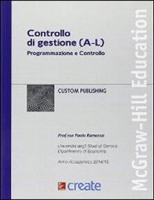 Controllo di gestione (A-L) - copertina