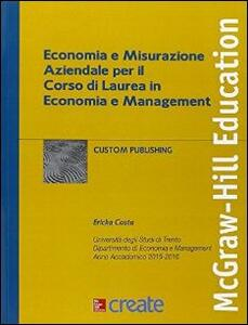 Economia e misurazione aziendale per il corso di laurea - copertina