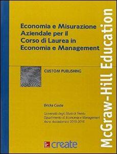 Libro Economia e misurazione aziendale per il corso di laurea