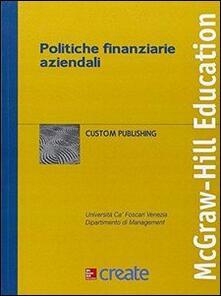 Politiche finanziarie aziendali - copertina