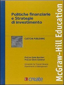 Politiche finanziarie e strategie di investimento - copertina