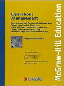Operation management - copertina