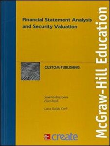 Foto Cover di Financial statement analysis and security valuation, Libro di  edito da McGraw-Hill Education