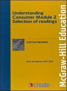 Understanding consumer. Module 2 - copertina