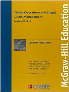 Global operations and supply chain management - copertina