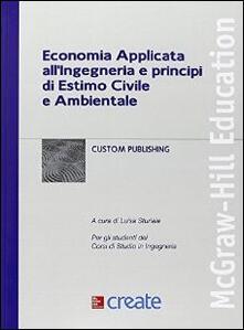 Economia applicata all'ingegneria e principi di estimo - copertina