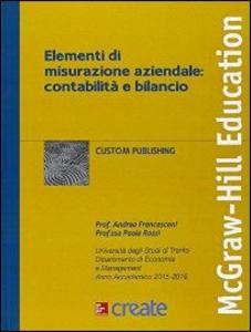 Libro Elementi di misurazione aziendale: contabilità e bilancio