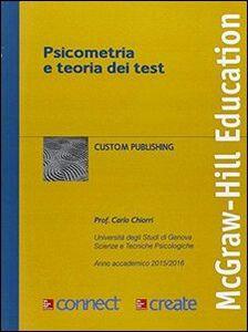Foto Cover di Psicometria e teoria dei test. Con aggiornamento online, Libro di  edito da McGraw-Hill Education