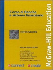 Corso di banche e sistema finanziario - copertina